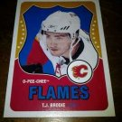 2010-11 O-Pee-Chee Retro T.J. Brodie card no. 540