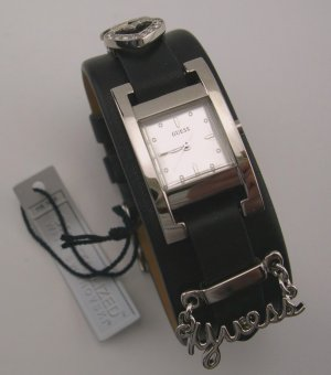 New Rare Guess Couture Swarovski Slide Charms Leather Watch