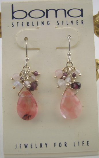 New Boma Exquisite Amethyst and Briolette  Drop Earrings