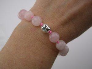 New 40- Inspirational Rose Quartz Sterling *Admiration* Bracelet