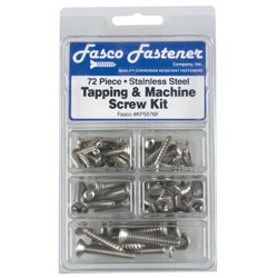 72 Piece Stainless Steel Screw kit