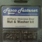 80 piece Nut & Washer Kit  stainless steel