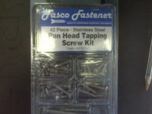 42 piece Pan Head Tapping Screw Kit