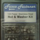 128 Piece Nut & Washer kit