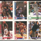 NBA Hoops Skybox 1991-1992 Basketball Cards Lot of 10 Near Mint