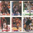 NBA Hoops Skybox 1991-1992 Basketball Cards Lot of 10 Near Mint