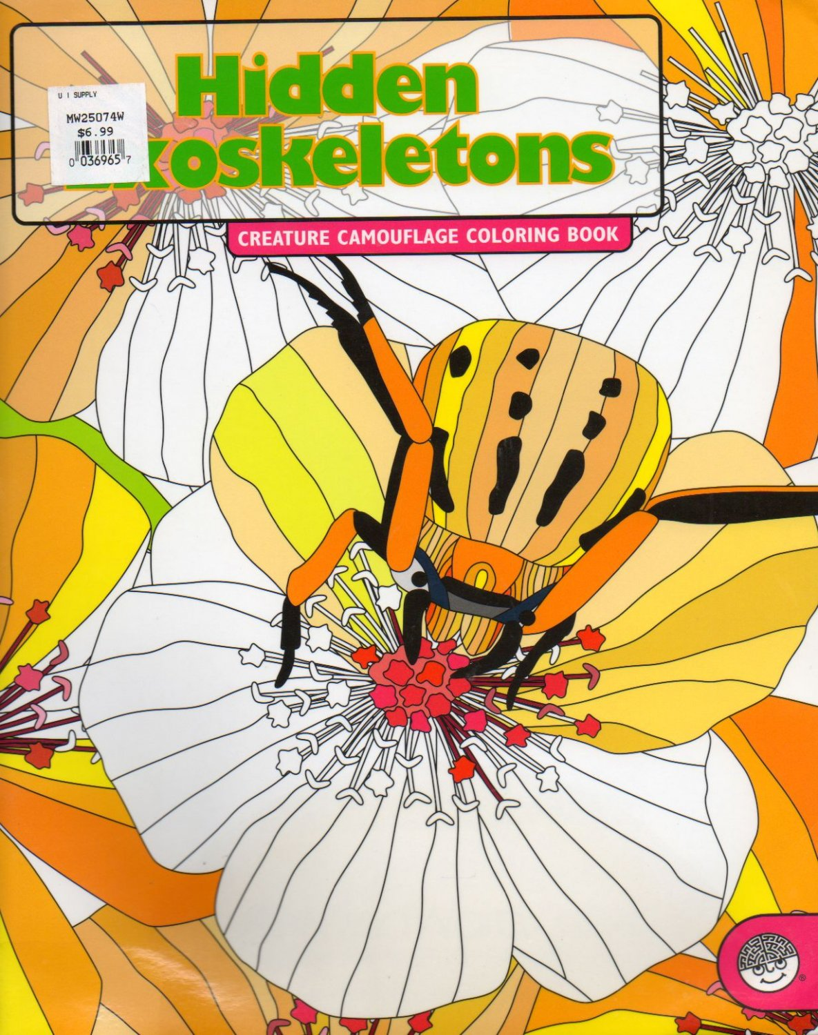 Hidden exoskeletons: Creature Camouflage Science Coloring Book NEW