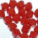 12 SWAROVSKI CRYSTAL DARK RED CORAL- 4MM BICONE BEADS