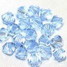 12 SWAROVSKI CRYSTAL LIGHT SAPPHIRE- 4MM BICONE BEADS