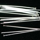 100 SILVER PLATED HEAD PINS