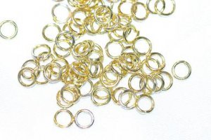 100 GOLD PLATED 4MM JUMP RINGS