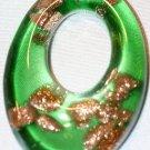 DESIGNER GREEN GLASS OVAL PENDANT