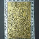 BRASS RUBBING ST. GEORGE & DRAGON, CELTIC KNOTWORK ART