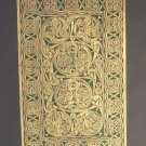 BRASS RUBBING  CELTIC SCROLL 6th century Irish graphic