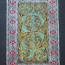 BRASS RUBBING, CELTIC SCROLL, HISTORIC WALL ART
