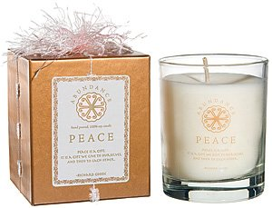 Abundance 100% Soy Candle *PEACE* Sugar Cane White Musk Vanilla *8oz Glass* BNIB