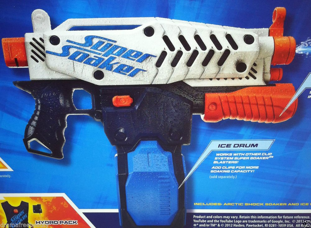 Nerf Super Soaker ARCTIC SHOCK Ice Cube Drum Freezing Water Squirt Gun Brand New