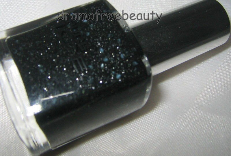 Pure Ice Nail Polish 1002 *IRREPLACEABLE* Black w/Silver Hex & Micro Glitter BN