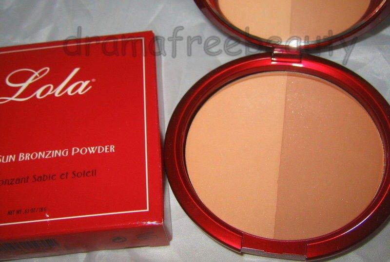 Lola Bronzing Powder *SAND & SUN* Shimmer Bronzer Duo *Valentine Red Compact* BN