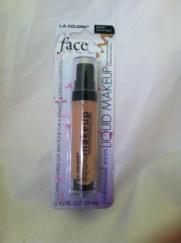 LA Colors Face Liquid Makeup Covers and Evens Skin Tone BLM312 Creamy Beige NEW
