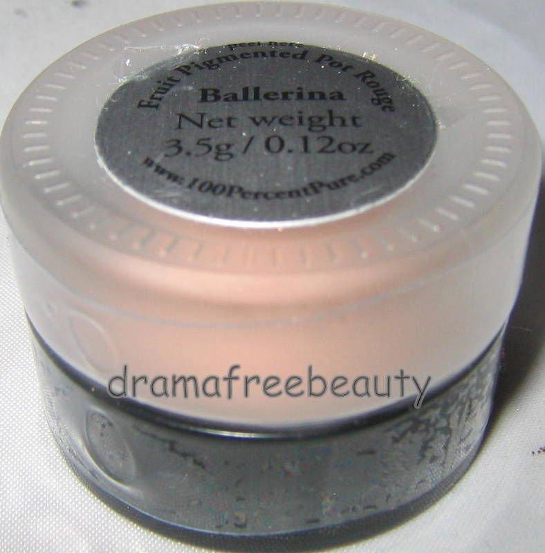 100% Pure Natural Fruit Pigmented Pot Rouge Blush *BALLERINA* Pink Sh BN &Sealed