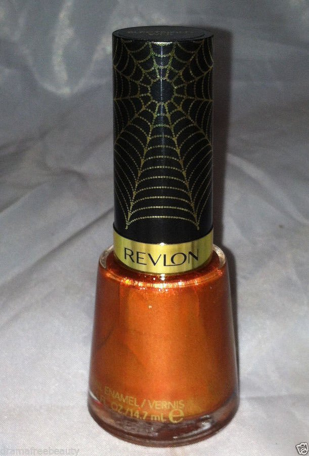 Revlon Limited Ed. SPIDER MAN 2 Electric Chrome Gold Nail Polish ELECTRIFIED WEB