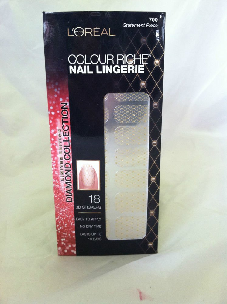 L'Oreal Colour Riche Nail Lingerie #700 Statement Piece New Limited Diamond Coll