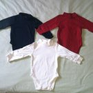 The Childrens Place Boys/Toddler 18 Months 3pc Lot Long Sleeve One Piece New