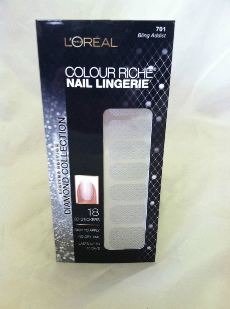 L'Oreal Colour Riche Nail Lingerie #701 Bling Addict New Limited Diamond Collect