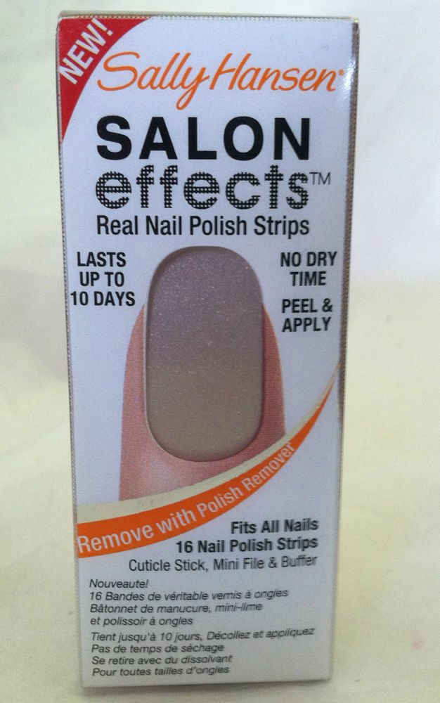 Sally Hansen Salon Effects Nail Polish Strips 270 *RAISE A GLASS* Champagne BNIB