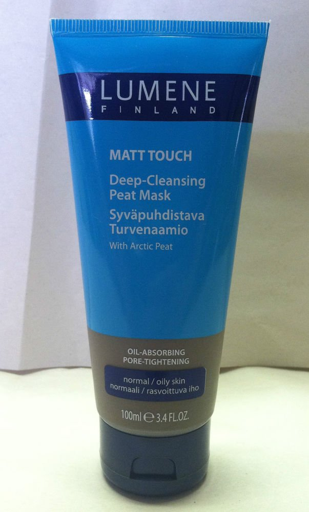 Lumene Creamy Matt Touch Deep-Cleansing Arctic Peat Mask Normal/Oily Skin NEW!