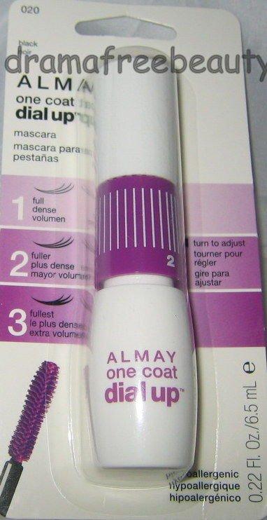 Almay ONE COAT Dial Up Volumizing Adjustable Mascara #020 *BLACK*  New & Sealed