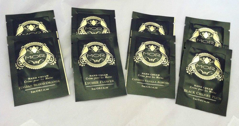 MOR 8pc Hand Cream Lot LYCHEE FLOWER, Cherry Plum, VANILLA ALMOND, Blood Orange