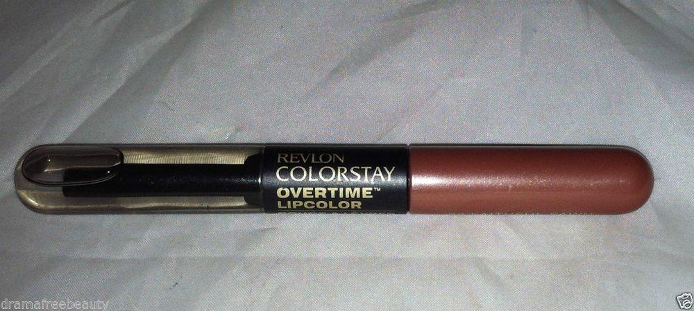 Revlon ColorStay Overtime Lip Color + Top Coat  * 32 FAITHFUL FAWN * New