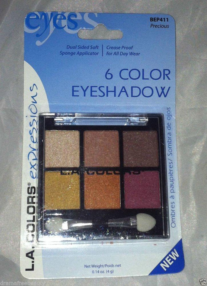 L.A. Colors 6 Color Eyeshadow Palette Set * BEP411 PRECIOUS * Long Lasting New