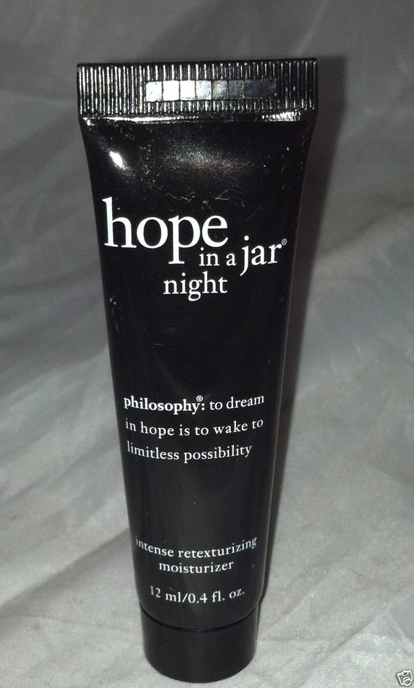 Philosophy Hope In A Jar * NIGHT * Intense Retexturizing Moisturizer Travel 12mL