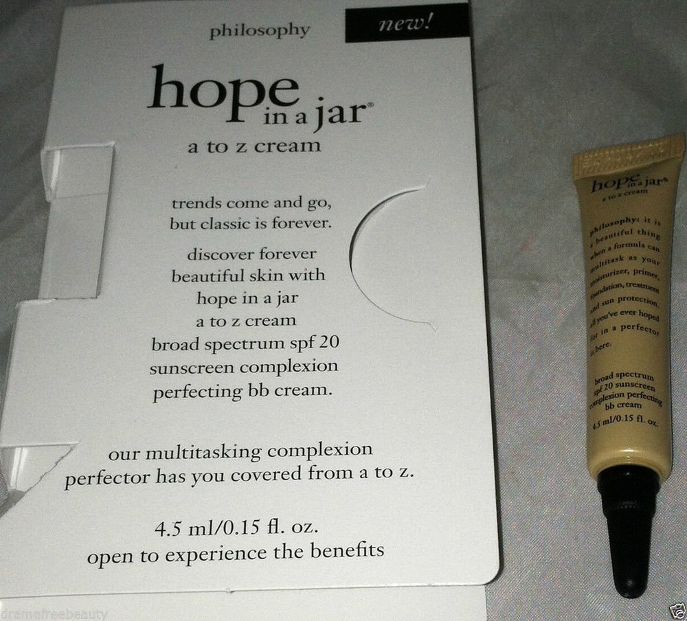 Philosophy Hope In A Jar *A to Z Cream* in Medium .15oz Travel/Sample Mini B.New