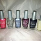 Wet N Wild 6pc Nail Polish Holo Card Lavender Pealescent Rain Check Blue Moon