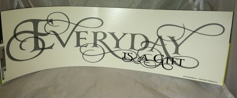 BN Peel & Stick Main Street WALL Stickers/Decals *Everyday is a gift* Removable