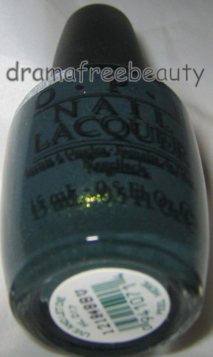 OPI Skyfall James Bond Nail Lacquer *LIVE AND LET DIE* Black Green wGold Shimmer