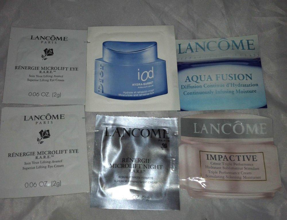 Lancome / Dior 6pc Mixed Travel / Sample Lot Renergie Impactive Aqua Fusion LQQK