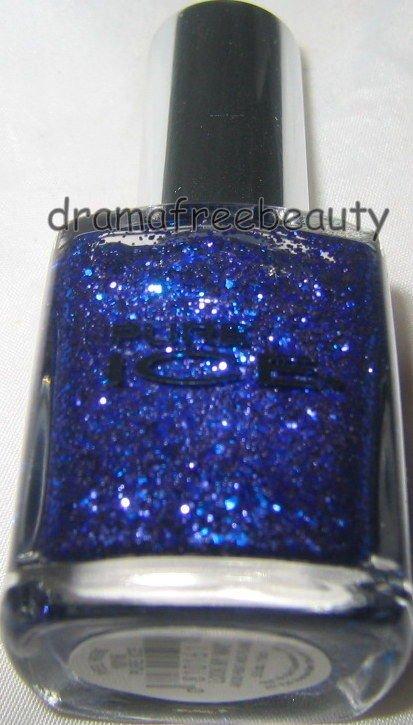 Pure Ice Nail Polish *LOOK MY WAY* Micro Purple & Medium Blue Hex Glitters B New