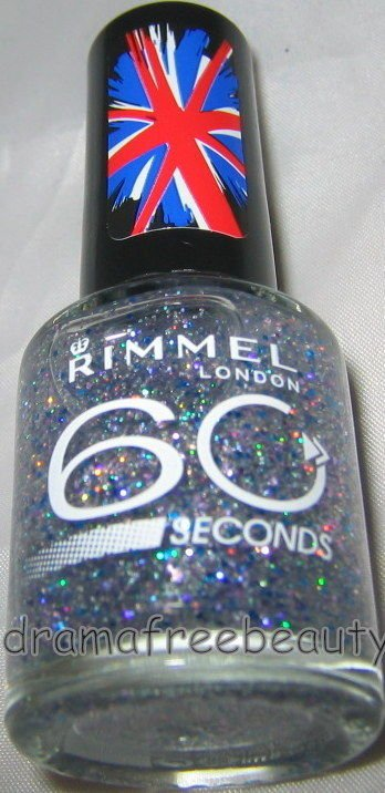 Rimmel London 60 Seconds Nail *MAGIC STARDUST* Holo Silver Lilac Blue Glitter BN