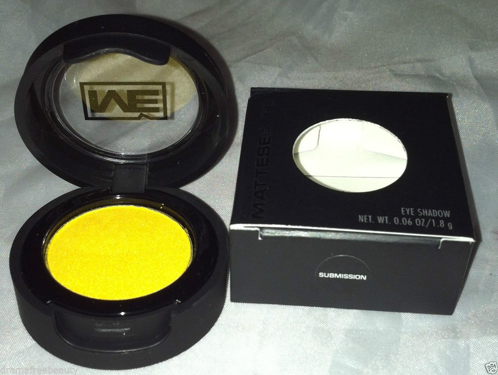 Mattese Elite Glaring Color Eyeshadow * SUBMISSION * Shimmer Pure Yellow BNIB