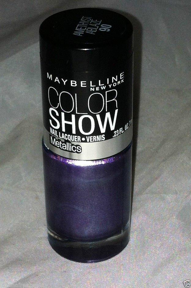 Maybelline Nail polish Color Show * 90 AMETHYST ABLAZE * Metallic Purple Shade