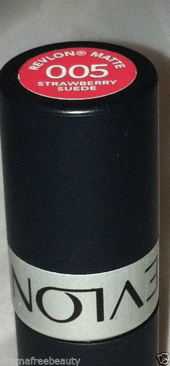 Revlon MATTE Lipstick in * 005 STRAWBERRY SUEDE * Bright Pink Brand New & Sealed