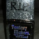 Wet n Wild RIP Fantasy Makers Nail Polish *NAIL IN THE COFFIN* Black Gold Shimmr