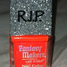 Wet n Wild RIP Fantasy Makers Tombstone Nail Polish *GHOULS RUSH IN* Orange BNew