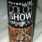 Maybelline Color Show Nail Polish Polka Dots * 65 DOTTY * Orange w/ Black/White
