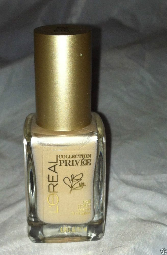L'Oreal Collection Privee Nail Polish * 610 EVA'S NUDE * Nude Shade w/Pink/Gold